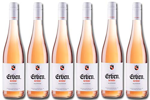 Erben Dornfelder Rosé Halbtrocken – Roséwein aus Deutschland – Qualitätswein – 6 x 0.75 l