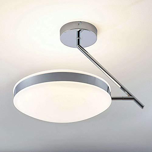 Lampenwelt LED Deckenleuchte 'Niklas' (Modern) in Weiß u.a. für Wohnzimmer & Esszimmer (1 flammig, A+, inkl. Leuchtmittel) - Lampe, LED-Deckenlampe, Deckenlampe, Wohnzimmerlampe