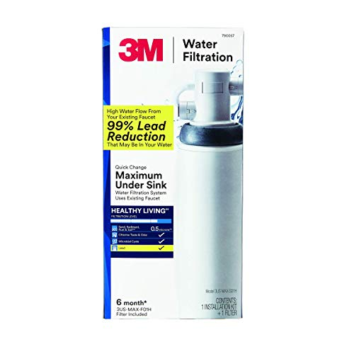 3US-MAX-S01H:  3M Single-Stage Under Sink Water Filtration System