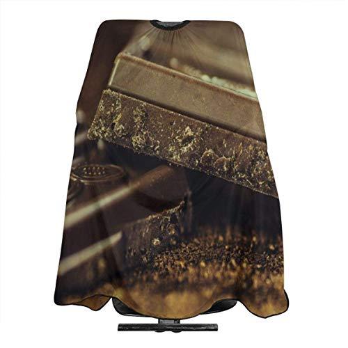 Schwarze schokoladenbraune Haarschürze, wasserdicht, schmutzabweisend, professionelle Haarschürze mit Schnappverschluss, 139,7 x 167,6 cm