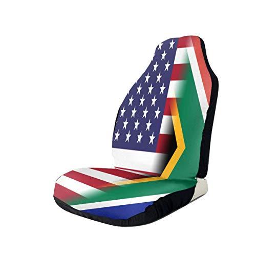 Südafrika Flagge Amerika Flagge Autositzbezüge für Fahrzeuge Universal Autositzbezüge Neuheit Fahrzeugsitzschutz Auto Mattenbezüge Auto SUV Truck