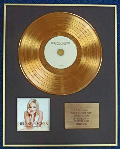 Century Presentations - HELEN FISCHER - Limited Edition CD 24 Karat Gold Coated LP Disc - SO NAH WIE DU