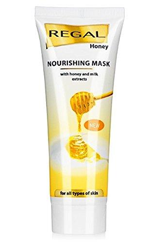 Masque nourrissant REGAL au miel et aux extraits de lait destiné à tous types de peau