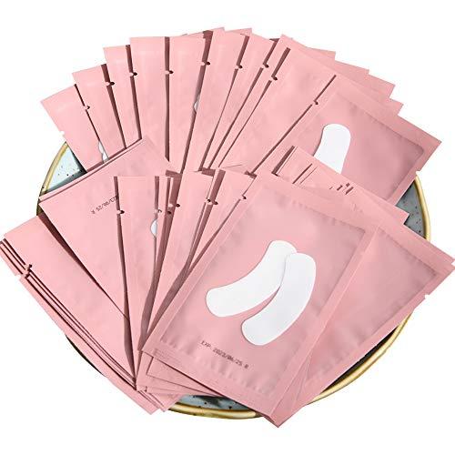 Lunamoon 50 Paire Patchs Pour Extensions de Cils Gel Patch de Cils Forme de Bateau Gel Patch Non Pelucheux Gel Yeux Patchs Cils Pad Eye Masque Beauté Outil Under Eye Pads (Mini Pink)