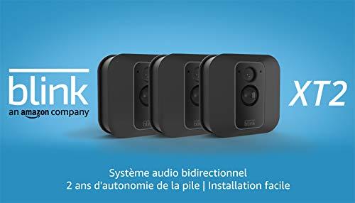 Nouvelle Blink XT2 | Caméra de sécurité connectée, Intérieur/extérieur, avec stockage dans...