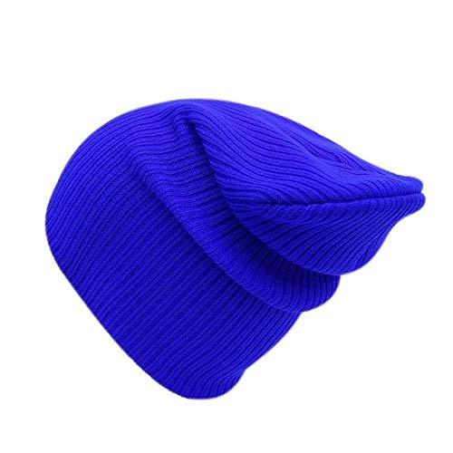 N/A Herfst en winter zachte gebreide muts dames hoed katoen schedel muts pure rand vrouwelijke effen hoed