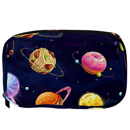 Pequeña bolsa de cosméticos para bolso, bolsa de maquillaje, bolsa de cosméticos, bolsa de viaje, neceser de viaje, neceser para lápices, monedero con cremallera, diseño de rayas