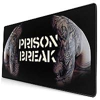 Prison Break (2) デスクマット 超大判 マウスパッド デスクパッド ゲーミングマウスパッド 事務所机用 パソコンマット レーザー 光学式マウス対応 傷防止 防水 滑り止め 多機能 75cm X 40cm
