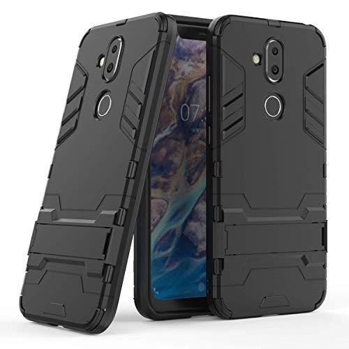 Nokia 7.1 Plus Funda, FoneExpert® Heavy Duty Silicona Slim híbrida con Soporte Cáscara de Cubierta Protectora de Doble Capa Funda Caso Cover para Nokia 7.1 Plus/Nokia X7