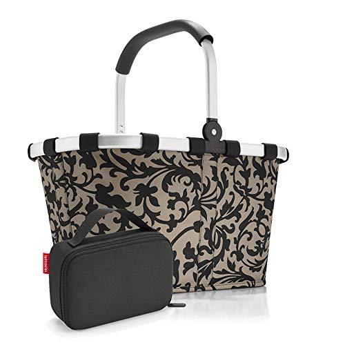 Set carrybag BK, thermocase OY, SBKOY Einkaufskorb mit Kleiner Kühltasche, Baroque Taupe + Black (70277003)