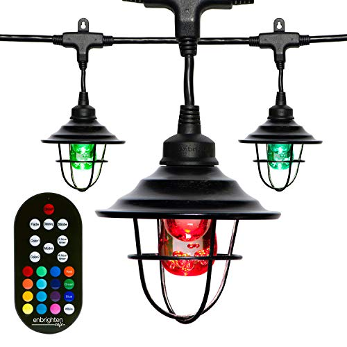 Enbrighten 43392 Classic Seasons LED Warm White & Color Changing Café String, 24 ft, Black Oil Rubbed Bronze