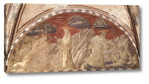 "Creation of The Animals and Creation of Adam by Paolo Uccello - 10"" x 20"" Gallery Wrap Canvas Art Print - Ready to Hang"