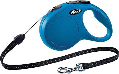 Croci C5055145 Guinzaglio Per Cani Retrattile Flexi New Classic, 8 m, Blu, Taglia S, Blu