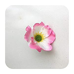 Hopereo 15Colors 7Cm Artificial Silk Poppy Flower Heads for DIY Wedding Decoration Hairpin Wreath Accessories Festival Supplier-4-15 Pieces