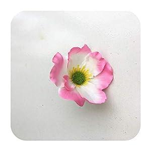 SmarketL 15Colors 7CM Artificial Silk Poppy Flower Heads for DIY Wedding Decoration Hairpin Wreath Accessories Festival Supplier-4-15 Pieces