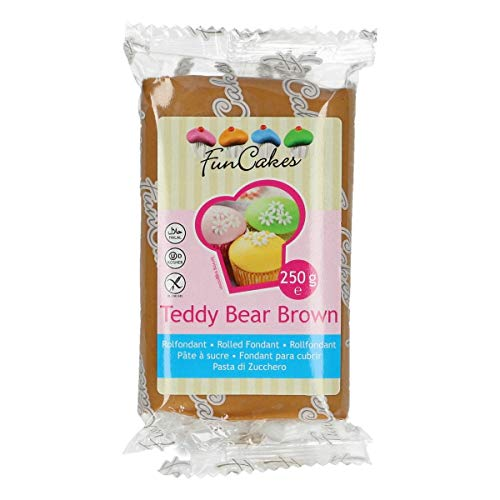 FunCakes Fondant Teddy Bear Brown 4er Pack (4 x 250 g)