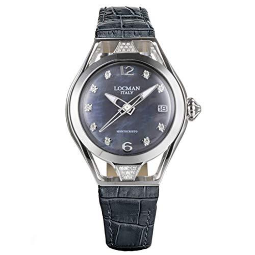 Locman Italy Reloj de mujer Montecristo Lady gris con diamantes aprox. 0,26 ct. Ref. 0526