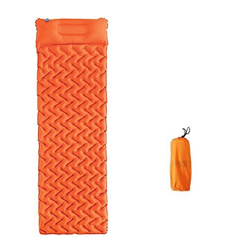 SRXSMGS Esterillas Almohadilla de Dormir de Camping Inflable Plegable al Aire Libre portátil con Almohadilla y Tiendas a Prueba de Humedad (Color : Orange)