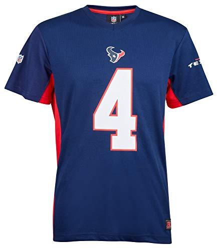 Fanatics NFL Houston Texans #4 Watson - Camiseta para hombre, color azul...