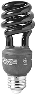 GE Lighting 78957 Energy-Smart CFL BlackLight 13-Watt (25-watt replacement) T3 Spiral Light Bulb with Medium Base, 1-Pack