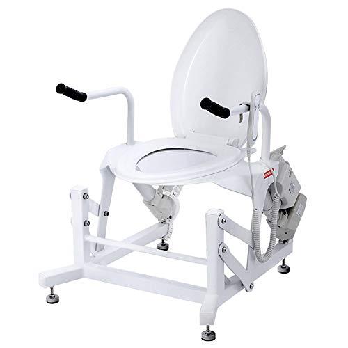 LFJG Rotaie di Sicurezza per WC, Sedia per WC con Ascensore Elettrico per Anziani, Telaio di Sicurezza per WC con Facile Installazione,Facile da Pulire,Adatto A Persone Che Sono Scomode da Spostare