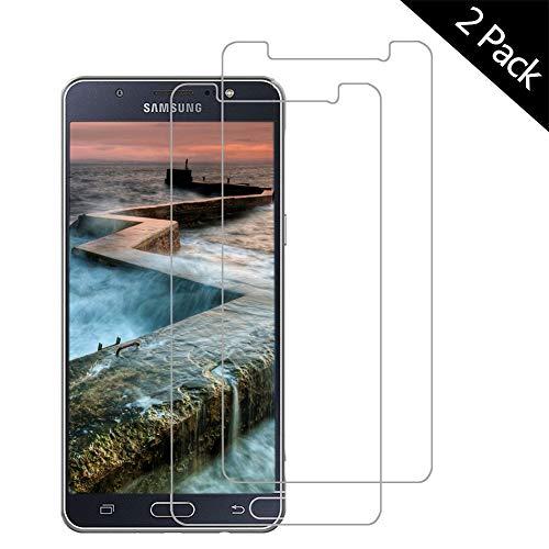 OUJD Protector Pantalla para Samsung Galaxy J5 2016 ( Paquete de 2 ) - Samsung Galaxy J510, Cristal Vidrio Templado Premium