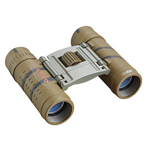 TASCO 165821B Essentials Roof Prism Roof MC Box Binoculars, 8 x 21mm, Brown Camo