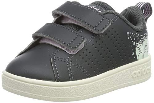 adidas Unisex Baby VS ADV CL CMF INF Hausschuhe, Mehrfarbig (Grisei/Grisei/Aerorr 000), 20 EU