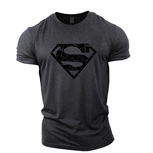 GYMTIER Camiseta Culturismo Hombre - Superman Vascular - Top Entrenamiento Gimnasio