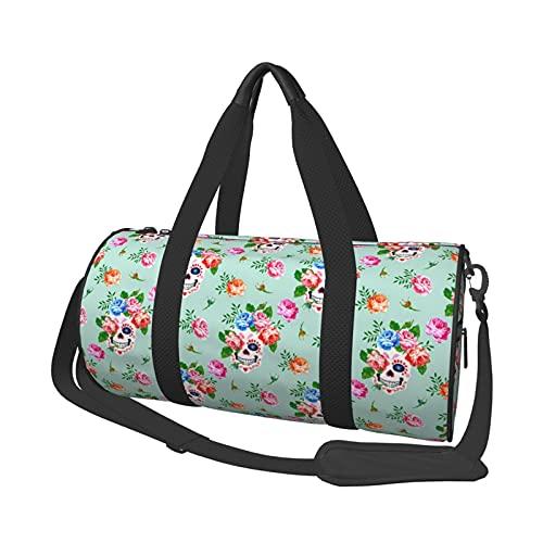 MBNGDDS Bolsa de viaje con diseño de calavera, ligera, plegable, impermeable, con correa para el hombro, bolsa de deporte para hombres y mujeres, ver imagen, Talla única,