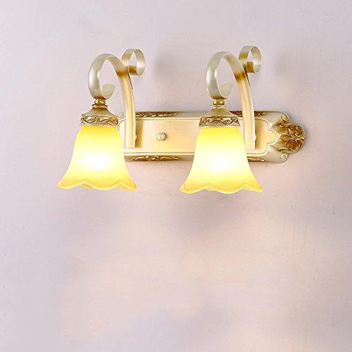 WWW Spiegelkoplamp, retro LED-wandlamp, badkamerspiegel, kast, alllee, studium, decoratie, plafondlamp