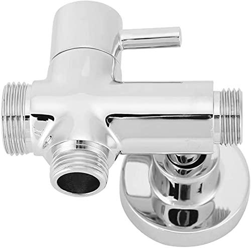 FDABFU Válvula de desvío montada en la Pared, G1 / 2'Adaptador de Ducha de latón de Cobre Redondo montado en la Pared para baño con Accesorios de Base Divisor de Ducha de 3 vías para baño y Cocina