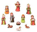 Krippenfiguren 11-teiliges Set Krippe Weihnachten Größe bis 9cm