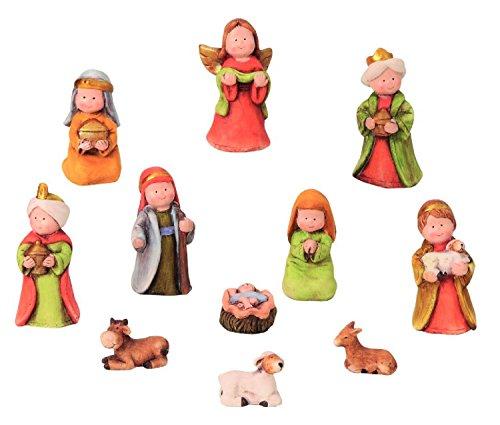 Modellhaus Krippenfiguren 11-teiliges Set Krippe Weihnachten Größe bis 9cm