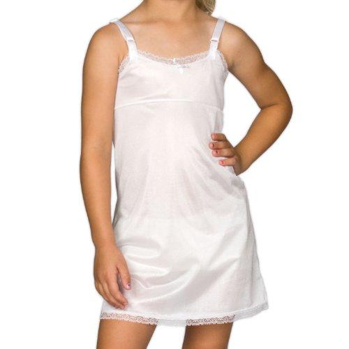 I.C. Collections Big Girls White Simple Empire Waist Slip, 8