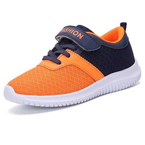 zhenghewyh Turnschuhe Kinder Sneaker Sportschuhe Hallenschuhe Outdoor Laufschuhe Für Unisex-Kinder (30 EU, Orange-2)