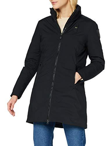 Blauer IMPERMEABILE/Trench LUNGHI Imbottito Piuma Abrigo de vestir, 999 Nero, XS para Mujer
