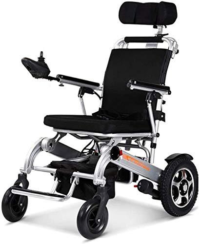 Silla de Ruedas eléctrica Plegable, Silla de ruedas, silla de ruedas eléctrica con inteligente automático de múltiples funciones portable, plegable Sillas de ruedas motorizada Carry, Viajes Aviación s