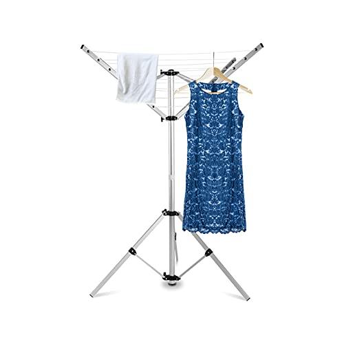 Yosoo Health Gear Tendedero Paraguas de 16 m, tendedero Giratorio portátil para Acampar, tendedero Giratorio Independiente, tendedero para Jardin