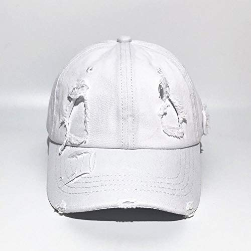 Pure cotton washed water hole baseball cap made old hole cap European and American retro hat