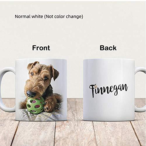 NCDFH Tazas de Desin Personalizadas Taza mágica Personalizada Tazas de café de cerámica Que cambian de Color sensibles al Calor Taza de Leche Regalo Imprimir imágenes