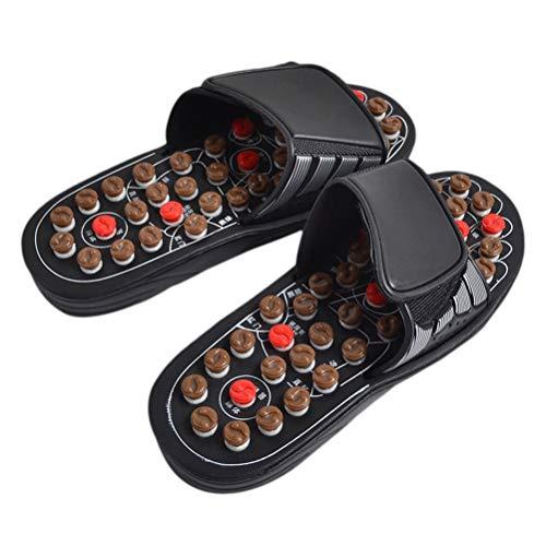 Healifty Pantofole di Massaggio Digitopressione Massaggiatore Plantare Fascite Sandali Riflessologia per Uomo Donna