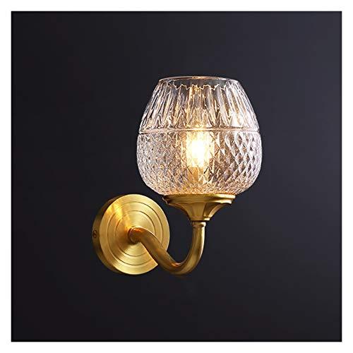 Lámpara de Pared Luz de lujo de lujo lámpara de pared lámpara de noche sala de estar sala de estar pared toda la lámpara de pared de cobre escalera montada en la pared alisle iluminación e14 soporte,