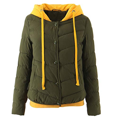 ForeverH Forh Dames Coat Wintermantel Warme Coat Tops Lange mouwen deel Outwear van hoogwaardige katoenmix