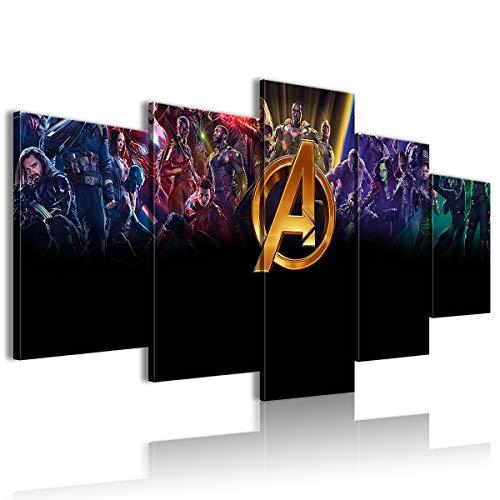 AivGEG Film di Pittura di Sfondo a 5 Pannelli Avengers: Infinity War Bar 100x50 Senza Cornice