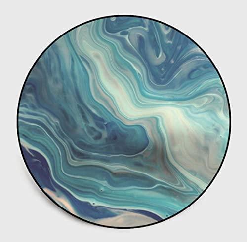 Alfombra Redonda Sala Tradicional,relación Calidad-Precio,fácil de Limpiar,Hermosa Alfombra,se ve Genial,llegó rápidamente,150cm de diámetro,Impresión de patrón de Textura de Color nórdico