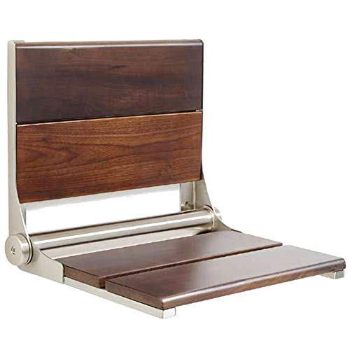 Review Lifeline Contour Wood Folding Shower Seat - Walnut Wall Mount Bench/Bathroom Safety & Mobilit...