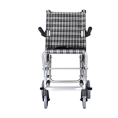 Aluminium rolstoel-lichtgewicht opvouwbare rolstoel geschikt voor kinderen, nettogewicht 5 kg, een reisopbergtas als cadeau (kleur: grijs)