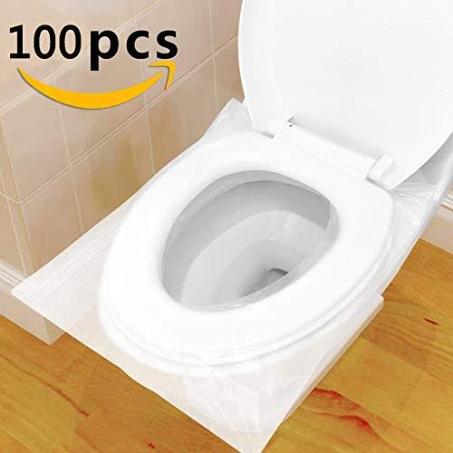 Ruesious 100 Stück Einweg Toilettenauflage - WC-Brillenschutz - Extra Large WC-Sitzauflage, 48cm x 43cm - Klobrillen-Auflage für Reisen Büro Restaurants Krankenhaus usw