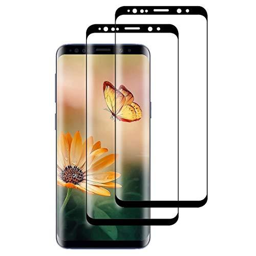 XSWO 2 Pezzi Vetro Temperato per Galaxy S9, Pellicola Protettiva Vetro Samsung Galaxy S9 [3D Copertura Completa] [Durezza 9H] [Senza Bolle] [Facile Installazione] Protezione Schermo S9